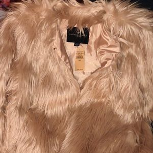 American Eagle Pink Fur Coat
